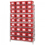 Medical Shelving with Grid Boxes