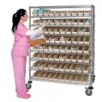 Mobile Medical Shelving Unit